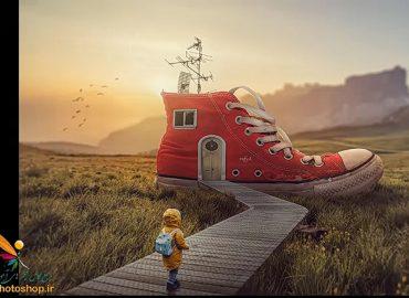 فتومنتاژ کفش