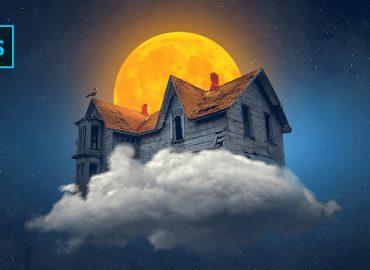 فتومنتاژ خانه ابری